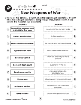 World War 2: New Weapons of War Gr. 5-8