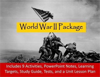 World War II Unit Notes, Activities, & Test Bundle