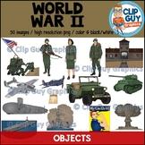 World War II Objects Clip Art Bundle - {Clip Guy Graphics}
