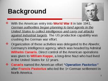 World War II - Operation Pastorius