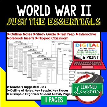 World War II Outline Notes JUST THE ESSENTIALS Unit Review