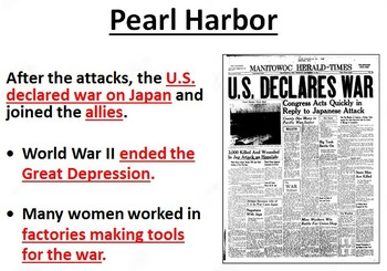 World War II POWERPOINT WITH NOTES