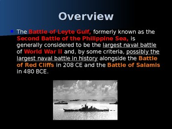 World War II - Pacific Theater - Battle of Leyte Gulf