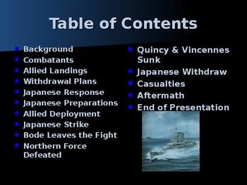 World War II – Pacific Theater - Battle of Savo Island