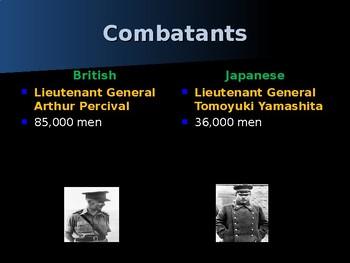 World War II – Pacific Theater - Battle of Singapore