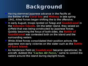 World War II – Pacific Theater - Battle of Tassafaronga