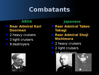 World War II - Pacific Theater - Battle of the Java Sea