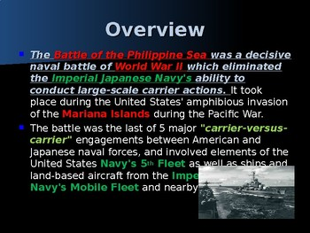 World War II - Pacific Theater - Battle of the Philippine Sea