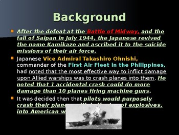 World War II - Pacific Theater - Kamikaze Pilots