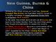 World War II - Pacific Theater - Battles of New Guinea, Burma & China