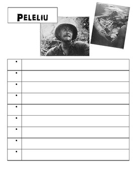 World War II Pacific Theater Printable Activity Worksheet Templates