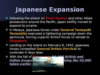 World War II – Path to Victory – Phase 1 - Stopping Japans Advance.