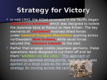 World War II – Path to Victory – Phase 3 - Advancing Across the Pacific