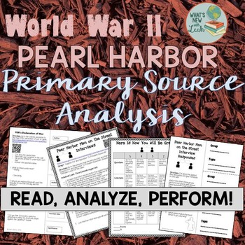 World War II Pearl Harbor Primary Source Analysis