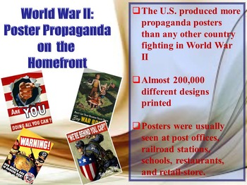 World War II: Poster Propaganda on the Homefront