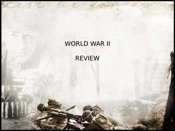 World War II PowerPoint Review/Test Questions with animate
