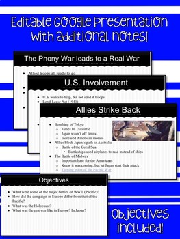 World War II Presentation and Notes
