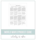 World War II Literature Project Cube