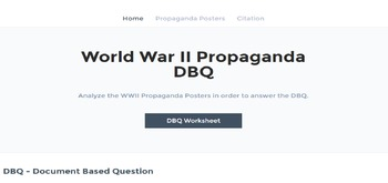 World War II Propaganda DBQ
