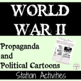 World War 2 Propaganda and Political Cartoons Activities