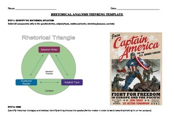 World War II Propaganda Poster - Rhetorical Analysis Worksheet
