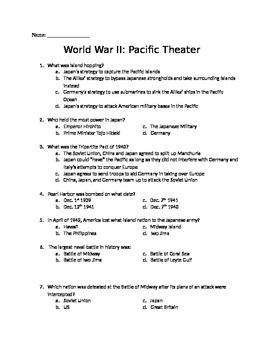 World War II Quiz- Pacific Theater
