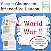 World War II Rationing: Google Interactive Lesson