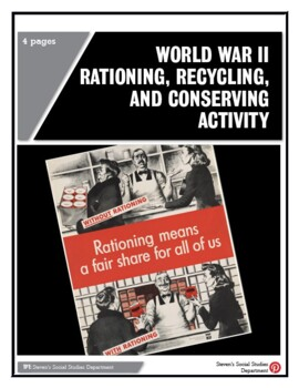 World War II Rationing, Recycling, and Conserving Activity