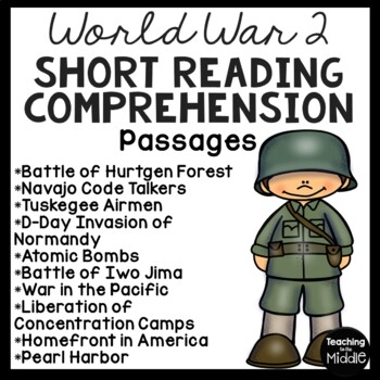 World War II Reading Comprehension Passages for Centers or