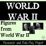 World War 2 Research and Role Play Project for Figures from World War II