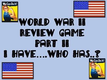 World War II Review Game
