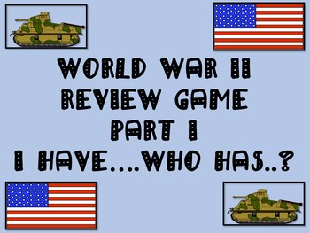 World War II Part II Review Game