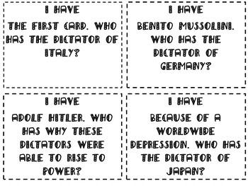 World War II Part II Review Game