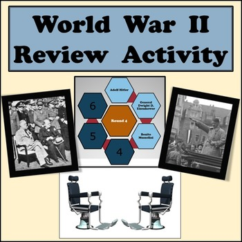 World War II Review Game - Partner Game in Front of Class - Game Show Style
