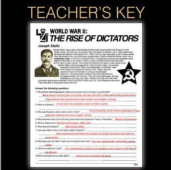 World War 2 Rise Of Dictators Informational Text Analysis Wwii