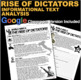 World War II Rise of Dictators Informational Text Analysis (WWII)