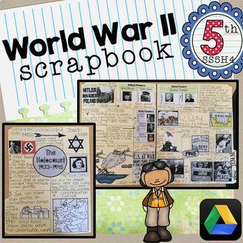 World War II Scrapbook SS5H6 WWII 5th Grade