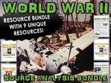 World War II - Source Analysis Bundle (Causes of WWII, Atomic Bombs, etc)
