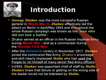 World War II - Soviet Union Military Leaders - Georgy Zhukov