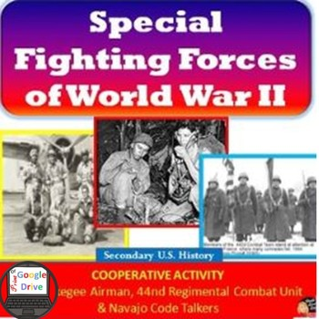 World War 2 – Special Fighting Forces Cooperative Activity Print & Digital