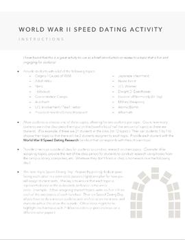 World War II Speed Dating Activity