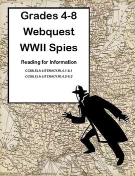 World War II -Spies-Webquest-Reading for Information Grades 4-8