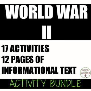 World War II 17 Student-Centered Station Activities for World War II Unit