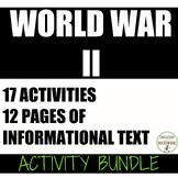 World War 2 Activities for World War II Bundle
