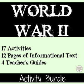 World War II 17 Student-Centered Station Activities for Wo