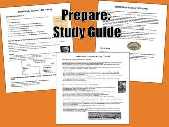World War II Study Guide, Review Quiz, & Exam