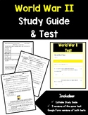 World War II Study Guide and Test