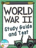 World War II Study Guide and Test (WWII, WW2)