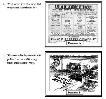 World War II TEST & Review Game  - Editable/Common-Core (Secondary U.S. History)