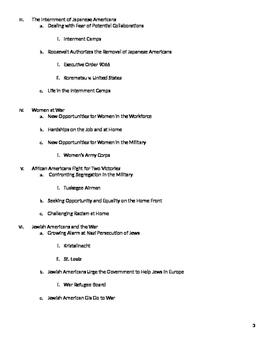 World War II: TeachTCI Compatible Reading Outline